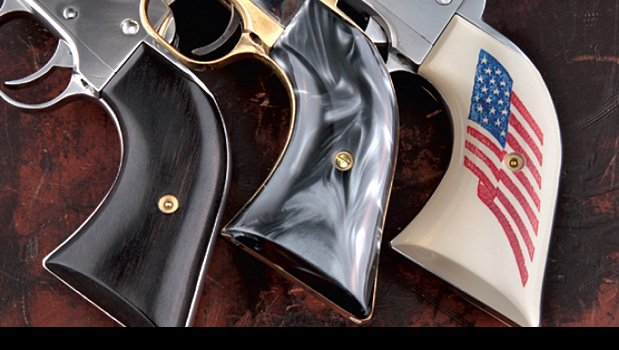 Cowboy Action Ivory & Pearlized Polymer, Micarta & Scrimshaw