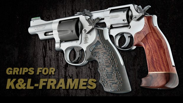 K and L Frame Square Butt - K and L Frame Revolvers - Grips
