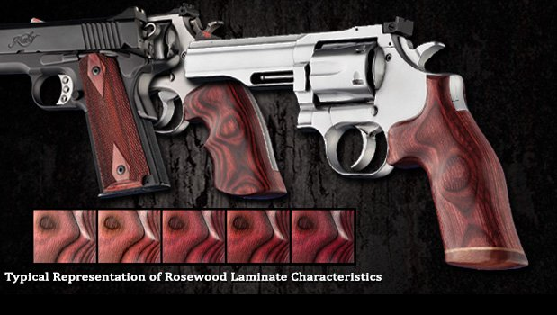Rosewood Laminate - Deep rose-colored laminate - Model 41 - Grips