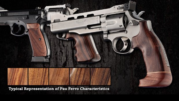 Pau Ferro - Looks like dark walnut - Model 41 - Grips for Smith