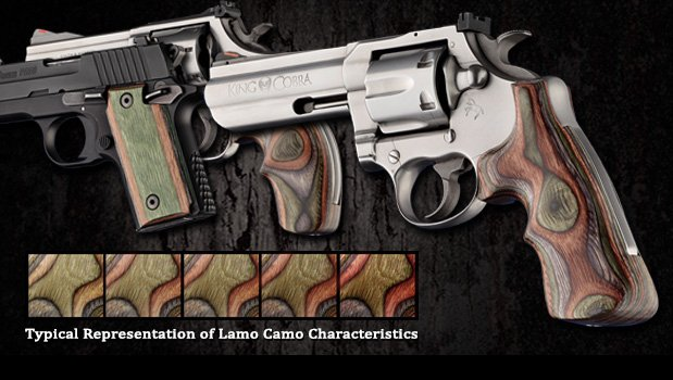 Lamo Camo - Camouflage laminate - Fancy Hardwoods - SP101 - Ruger