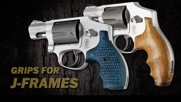 Round Butt - J Frame Revolvers - Grips for Smith & Wesson - Handgun ...