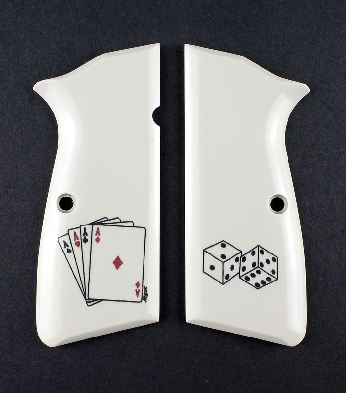 Browning Hi-Power Scrimshaw Ivory Polymer - Aces