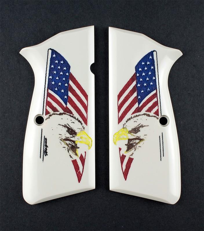 Browning Hi-Power Scrimshaw Ivory Polymer - Eagle with Flag