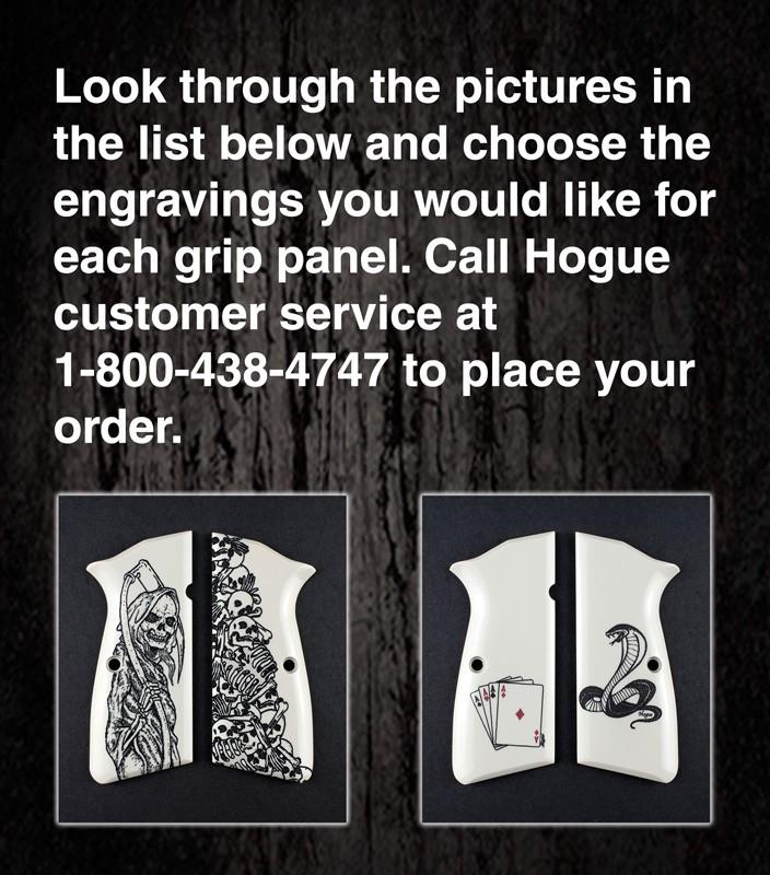 Browning Hi Power - Select Your Own Scrimshaw Design