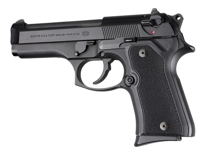 Beretta 92 Compact Checkered G10 - Black