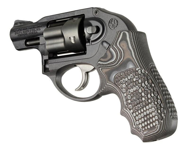 Ruger LCR/LCRx: Black/Grey Piranha G-Mascus G10 Grip