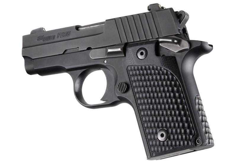 SIG Sauer P238 Piranha Grip G10 - Solid Black