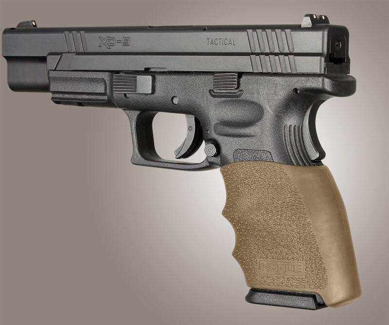 Springfield XD 9MM, 40S&W, 357SIG: HandALL Hybrid Grip Sleeve - FDE