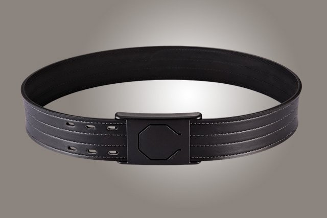 "2"" Black 42"" Waist Duty Belt Nytek Lining 4 Row Stitching with 1 Piece Safety Buckle Polymer"