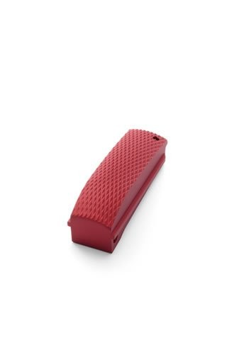 1911 Officers Mod. Aluminum  Mainspring Housing Checkered Arched Matte Red