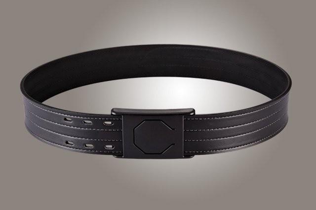 "2"" Black 32"" Waist Duty Belt Nytek Lining 4 Row Stitching with 1 Piece Safety Buckle Polymer"