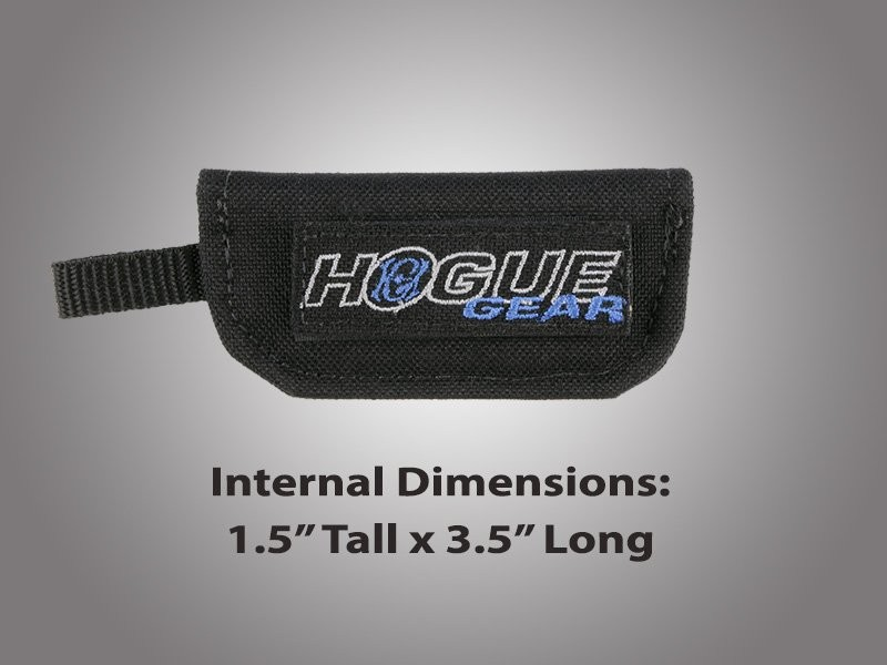 "Hogue Gear Small Folder Velcro Knife Pouch - Black 1 1/2"" tall X 3 1/2"" long"