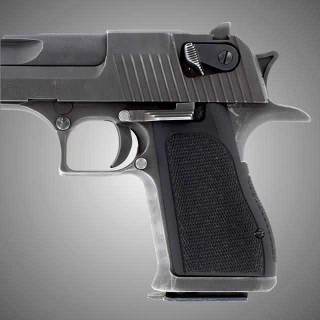 Desert Eagle Checkered  - Black G10