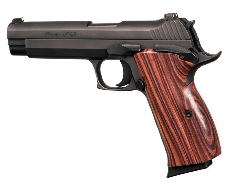 SIG P210 American: Smooth Hardwood Grip - Kingwood