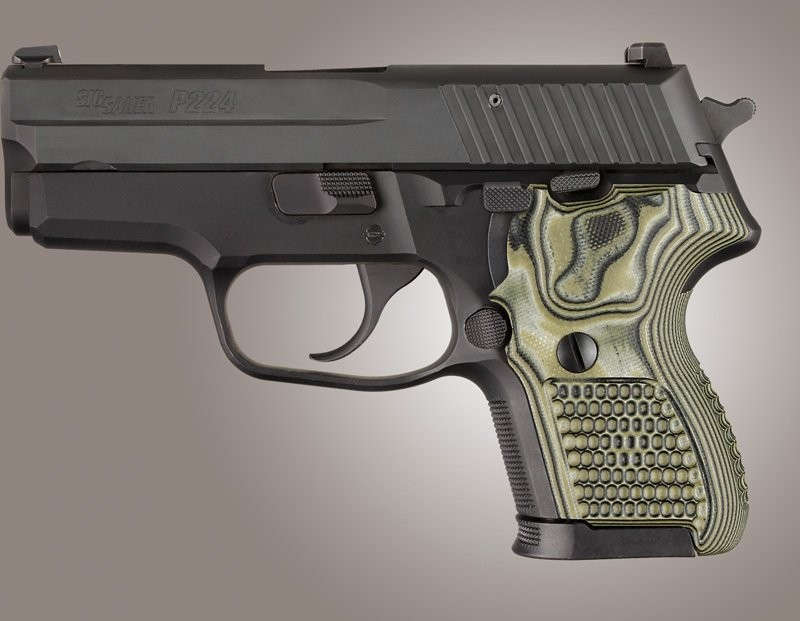 SIG Sauer P224 DA/SA Piranha Grip G10 - G-Mascus Green