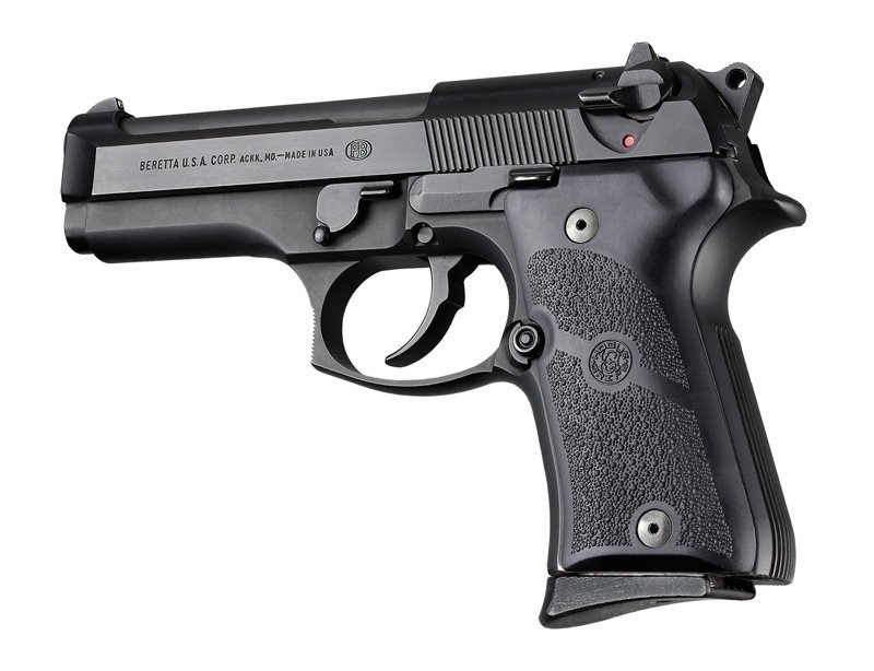 Beretta 92 Compact Auto Rubber grip Panels Black