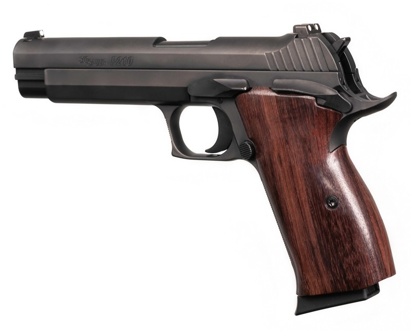 SIG P210 American: Smooth Hardwood Grip - Rosewood