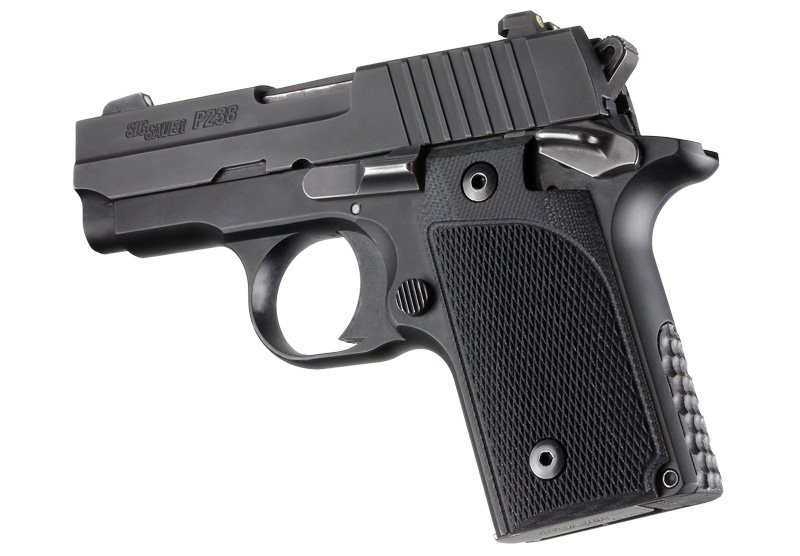 SIG Sauer P238 Checkered G10 - Solid Black