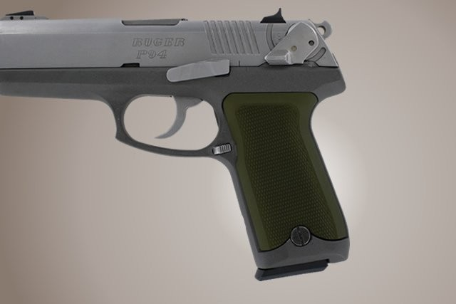 Ruger P94 Checkered Aluminum - Matte Green Anodize