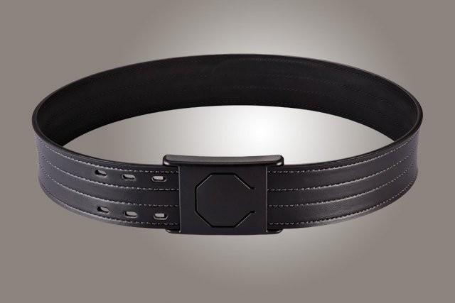 "2-1/4"" Black 50"" Waist Duty Belt Nytek Lining 4 Row Stitching with 1 Piece Safety Buckle Polymer"