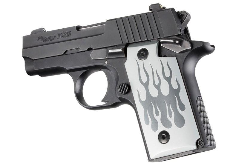 SIG Sauer P238 Flames Aluminum - Clear Anodize