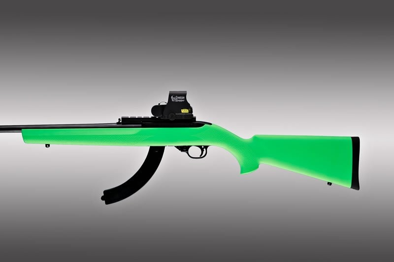 Ruger 10-22 Standard Barrel Zombie Green Rubber OverMolded Stock