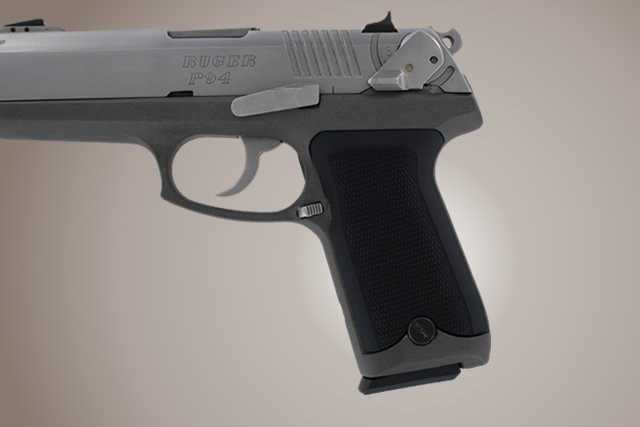 Ruger P94 Checkered Aluminum - Matte Black Anodize