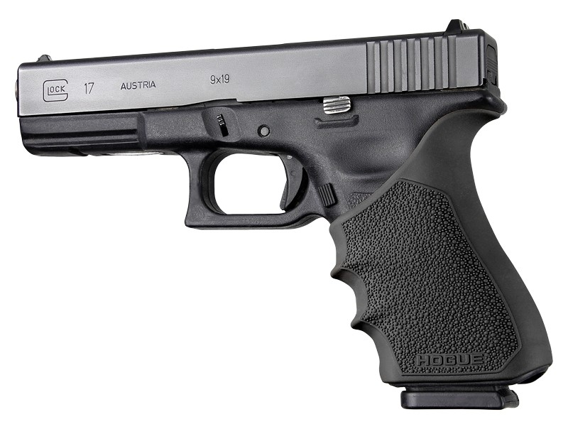 GLOCK 17, G17 MOS, G17L, G22, G35, G35 MOS, G34, G34 MOS, G31, G37 Gen 3-4: HandALL Beavertail Grip Sleeve - Black