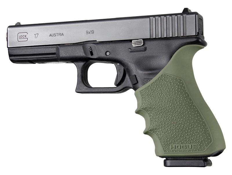HandAll Beavertail Grip Sleeve Glock 17, G17 MOS, G17L, G22, G35, G35 MOS, G34, G34 MOS, G31, G37 Gen 3-4 OD Green
