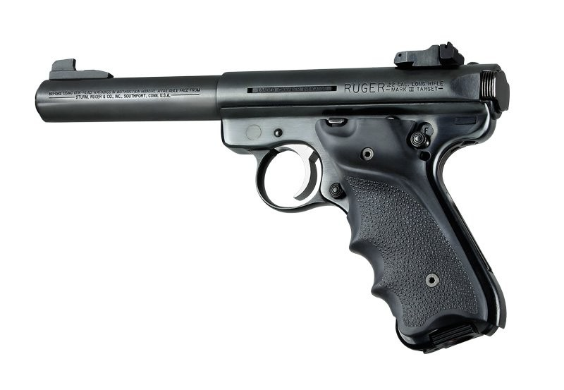Ruger MK II / MK III Rubber grip w/Right Hand Thumb Rest Black