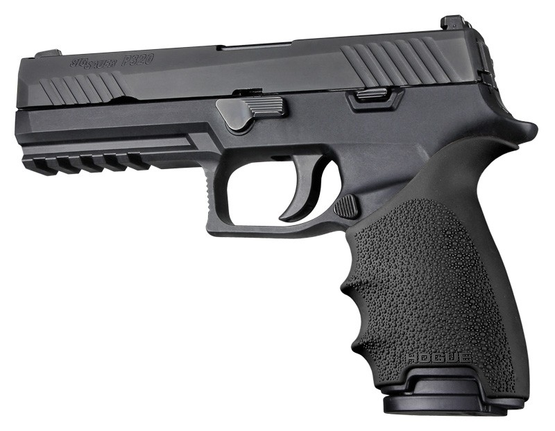 HandAll Beavertail Grip Sleeve Sig Sauer P320 Full Size Black