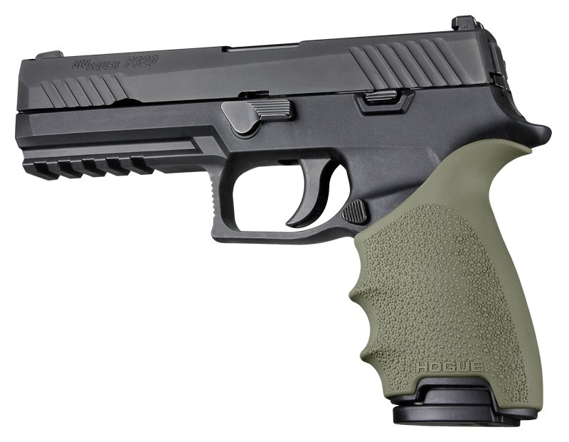 HandAll Beavertail Grip Sleeve Sig Sauer P320 Full Size OD Green