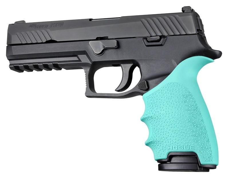 HandAll Beavertail Grip Sleeve Sig Sauer P320 Full Size Aqua