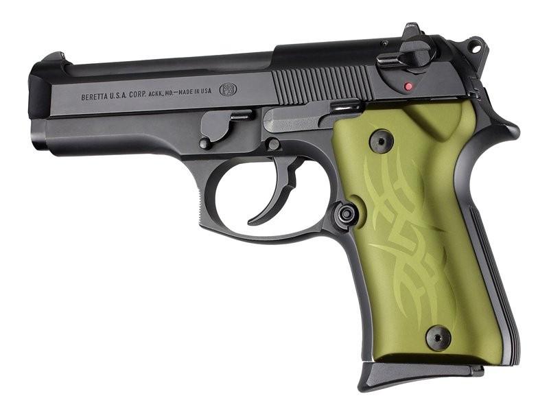 Beretta 92 Compact Tribal Aluminum - Green Anodize