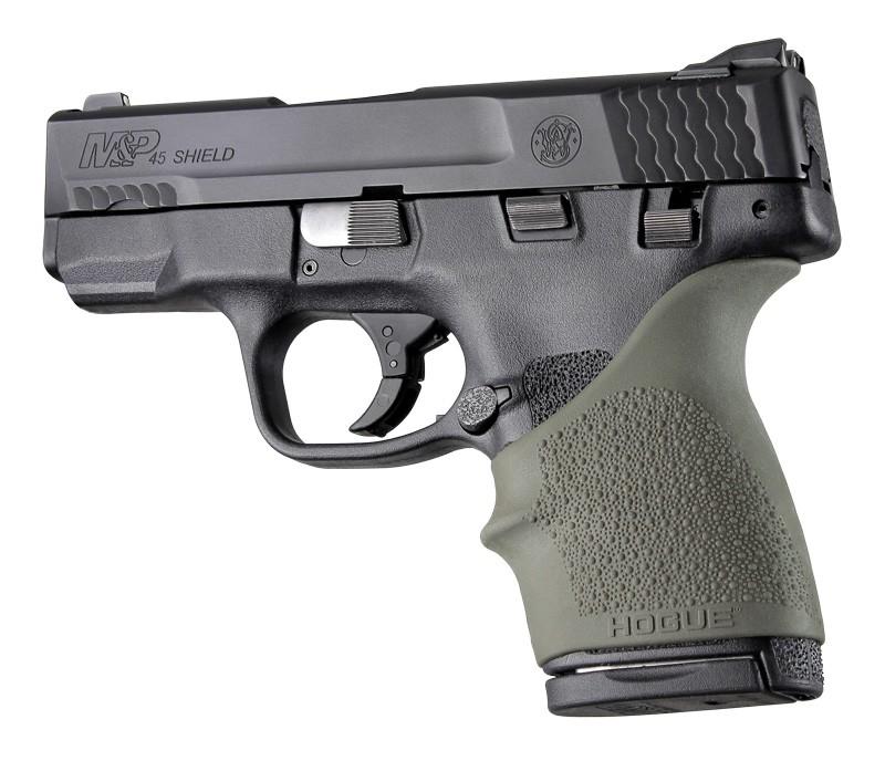S&W M&P Shield 45 / Kahr P9, P40, CW9, CW40: HandALL Beavertail Grip Sleeve - OD Green
