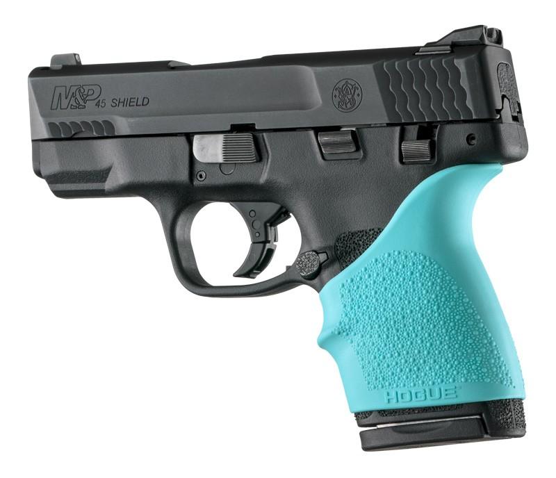 S&W M&P Shield 45 / Kahr P9, P40, CW9, CW40: HandALL Beavertail Grip Sleeve - Aqua