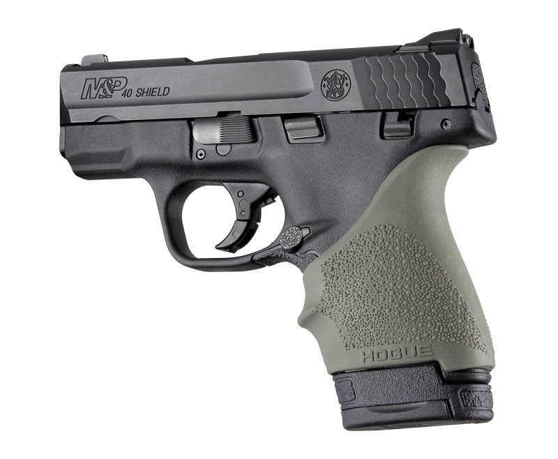 S&W M&P Shield 9mm & 40 / Ruger LC9, EC9: HandALL Beavertail Grip Sleeve - OD Green