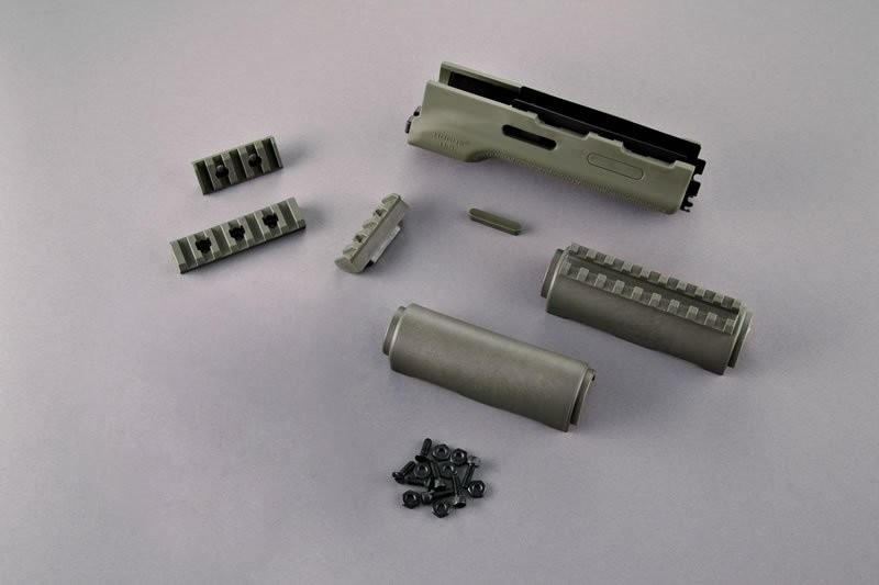 AK-47/AK-74 Standard Chinese and Russian - Forend with OD Green Rubber Gripping area