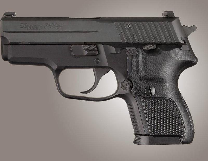 SIG Sauer P224 DA/SA Checkered G10 - Solid Black