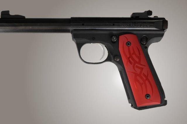 Ruger MK III 22/45 RP Tribal Aluminum - Red Anodize