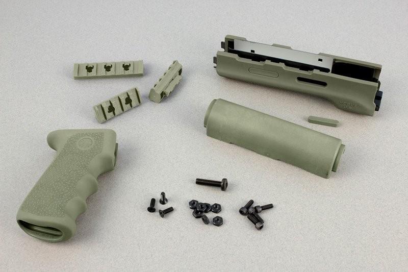 AK-47/AK-74 (Longer Yugo Version) Kit OM Grip and Forend OD Green