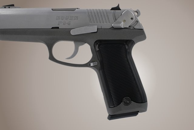 Ruger P94 Checkered Aluminum - Brushed Gloss Black Anodize