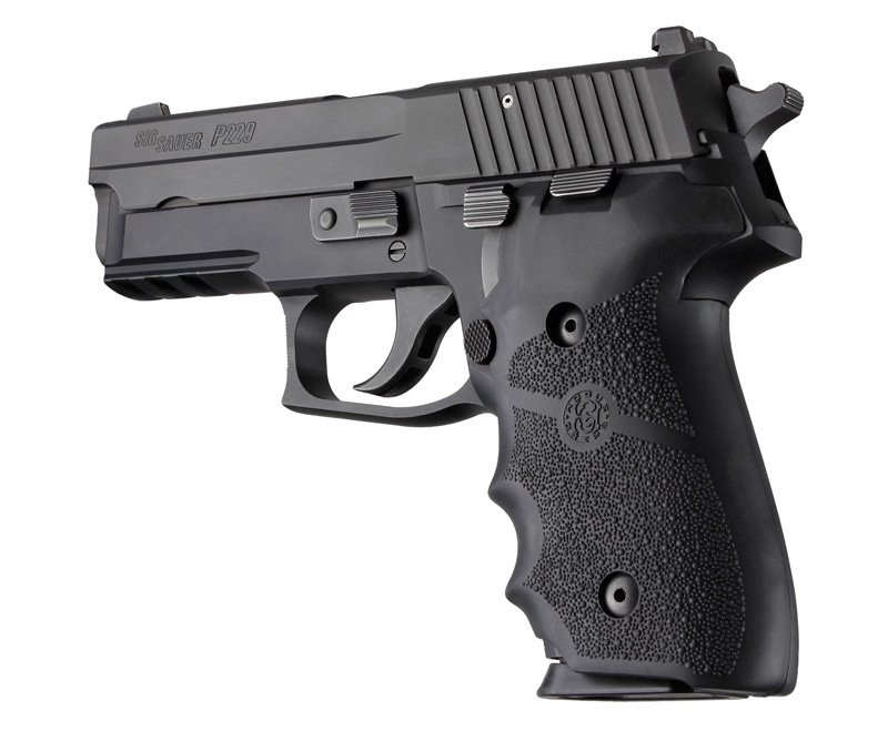 SIG Sauer P228/P229 Rubber with Finger Grooves Black