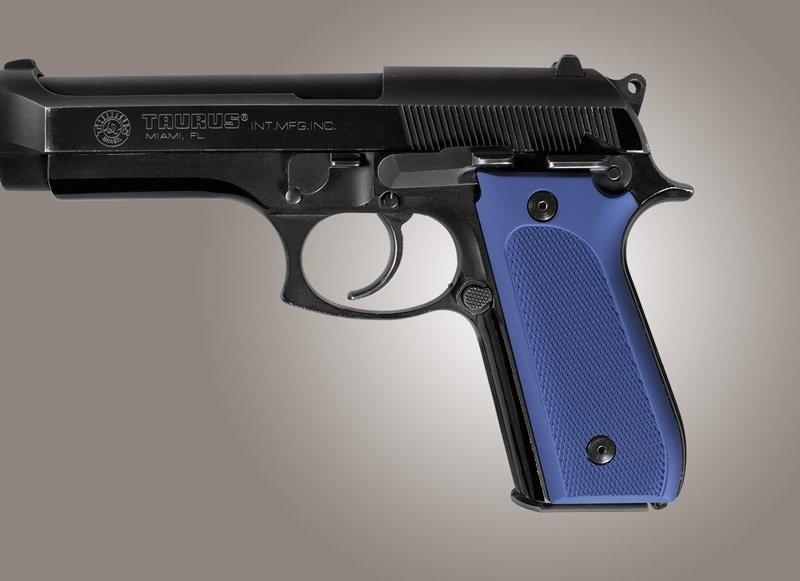 Taurus PT-99 PT-92 PT-100 PT-101 Safety Only Checkered Aluminum - Matte Blue Anodize