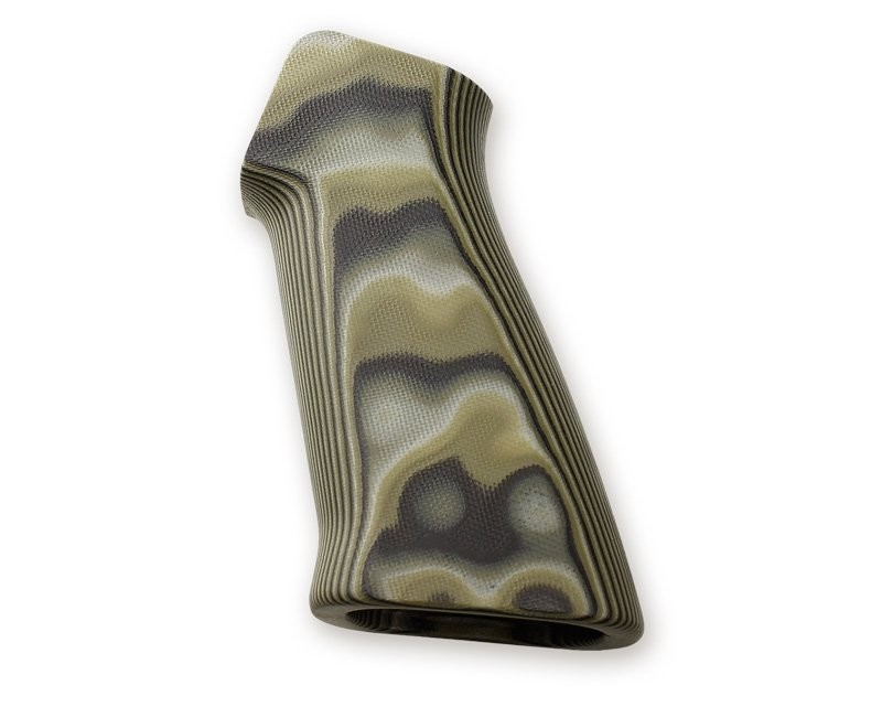 AR15 / M16 No Finger Groove Smooth G10 - G-Mascus Green