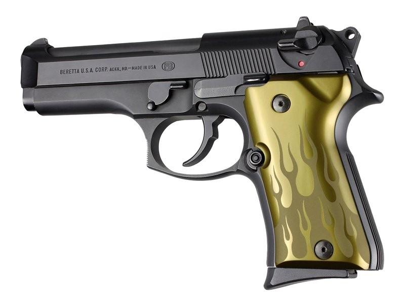 Beretta 92 Compact Flames Aluminum - Green Anodize