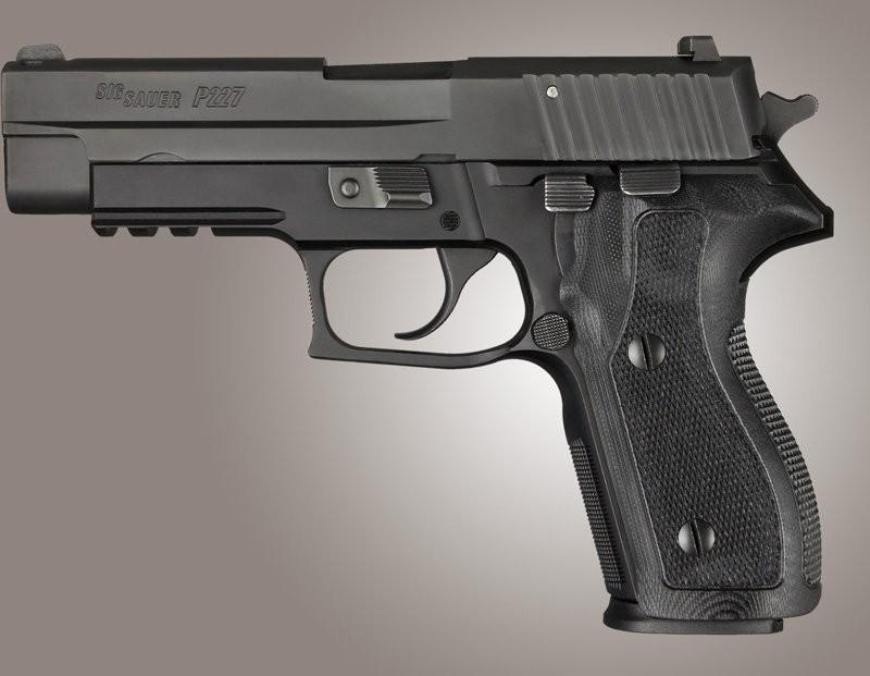SIG Sauer P227 DA/SA Checkered G10 - Solid Black