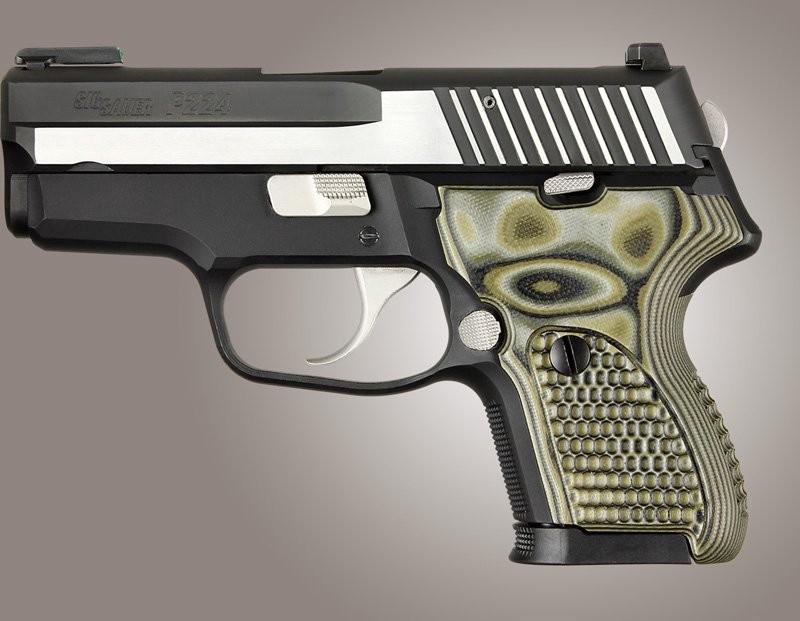SIG Sauer P224 DAK Piranha Grip G10 - G-Mascus Green