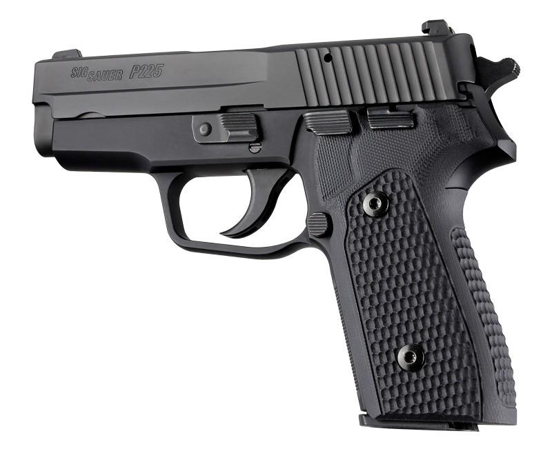 SIG Sauer P225-A1 Piranha Grip G10 - Solid black